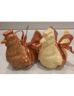 Poule chocolat blanc T3