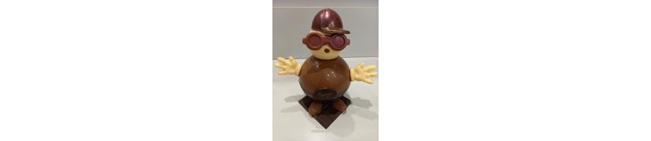 Personnage en chocolat de Pâques - Pâtisserie Chatagnier à Roanne